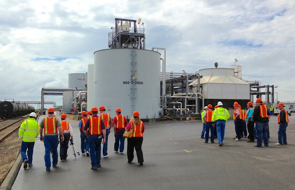 The SD group touring the Imperium Renewables Biodiesel plant at the Port of Grays Harbor.