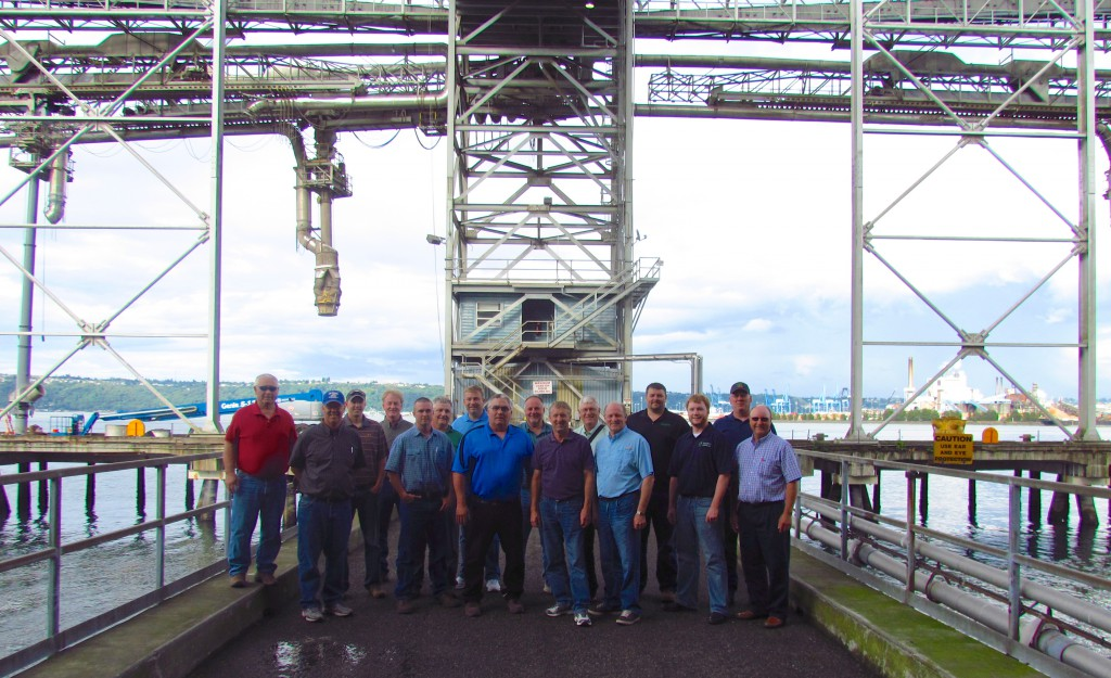 South Dakota farmers at  the TEMCO facility in Tacoma, Washington.